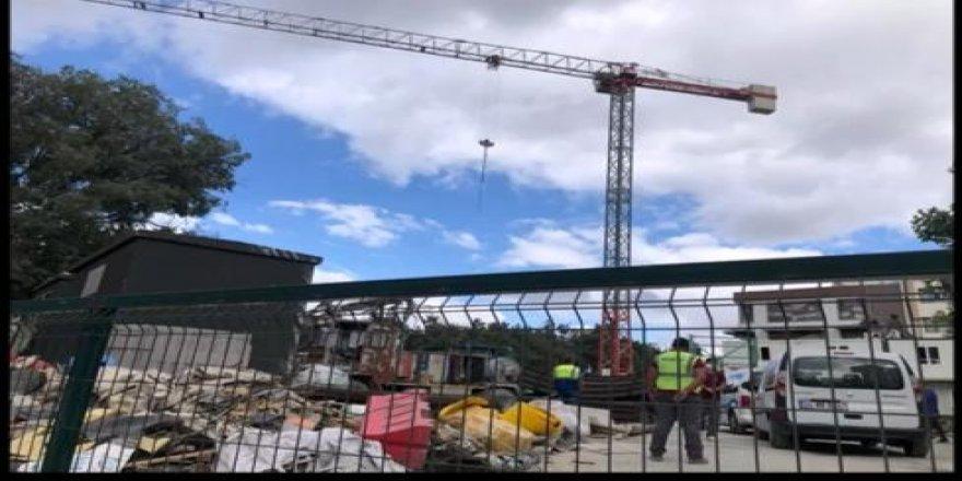 Gebze'de metro inşaat alanında intihar girişimi