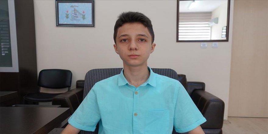 LGS'de tam puan alan Ali Fuad Erkan, mühendis olmak istiyor