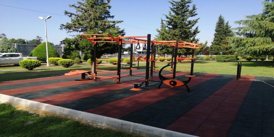 Büyükşehir ilk workout spor istasyonu kuruldu