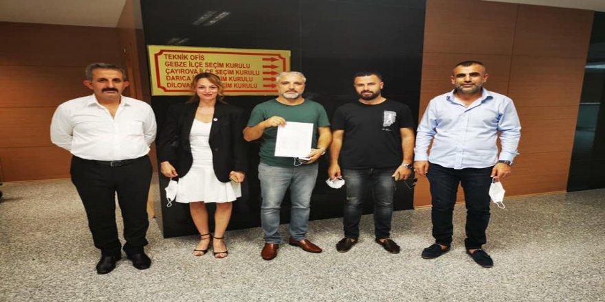 Gelecek Partisi Gebze İlçe Başkanı Müslüm Osmanoğlu Mazbatasını aldı