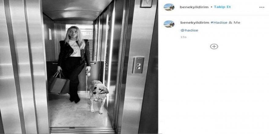 Hadise'den 'Benek'e Instagram hesabı