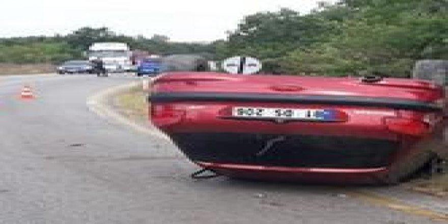 Gebze'de seyir halinde olan araç takla attı