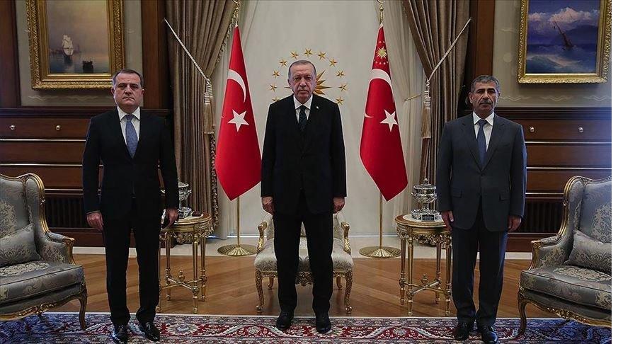Cumhurbaşkanı Erdoğan Azerbaycan Dışişleri Bakanı Bayramov'u kabul etti