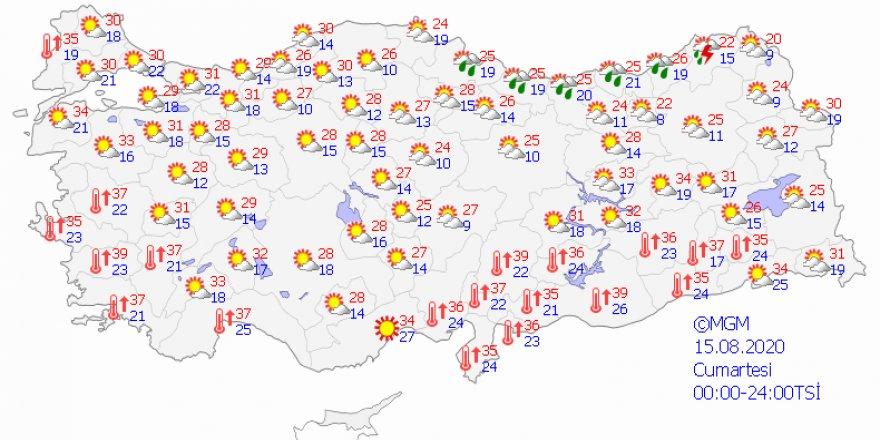 Bölgelerde hava durumu