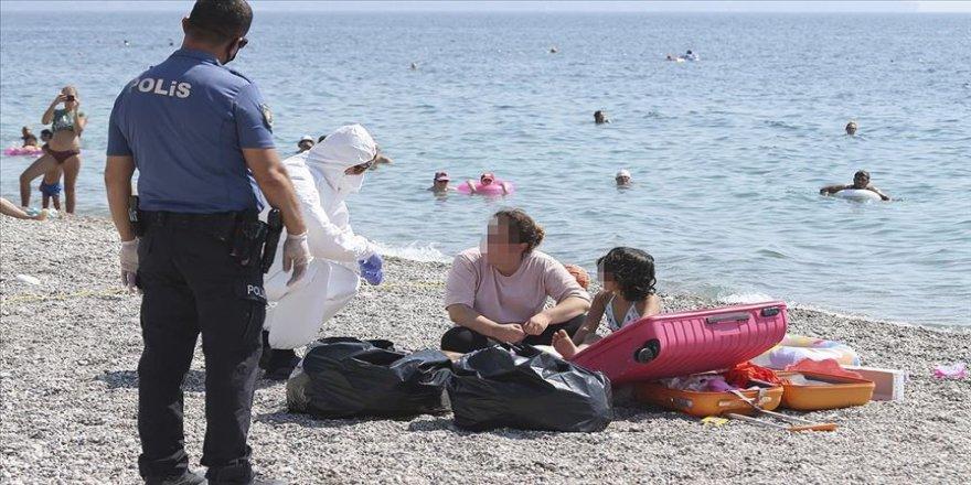 Karantinada olması gereken kadın Konyaaltı sahilinde yakalandı
