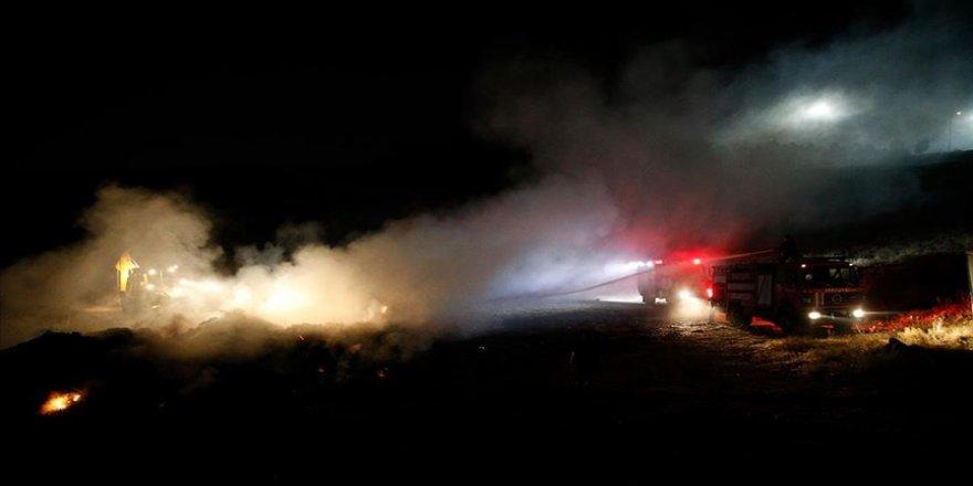 Kayseri'de çöp toplama alanında çıkan yangın kontrol altına alındı