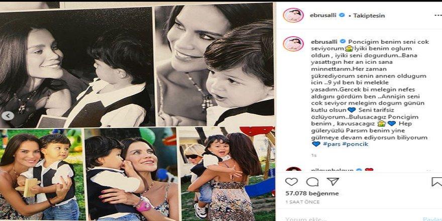 Ebru Şallı'dan oğlu Pars'ın doğum gününde duygulandıran paylaşım