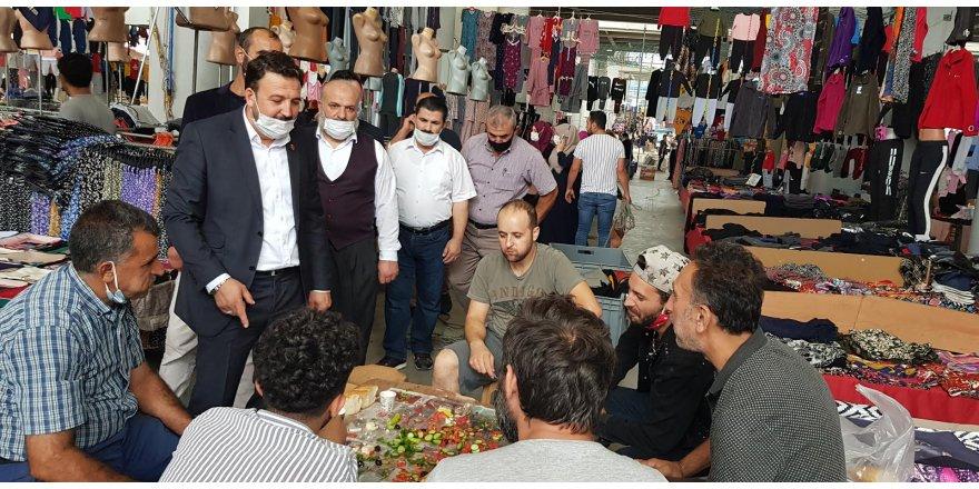 SP Gebze'den mevlana pazar yeri esnaf ziyareti