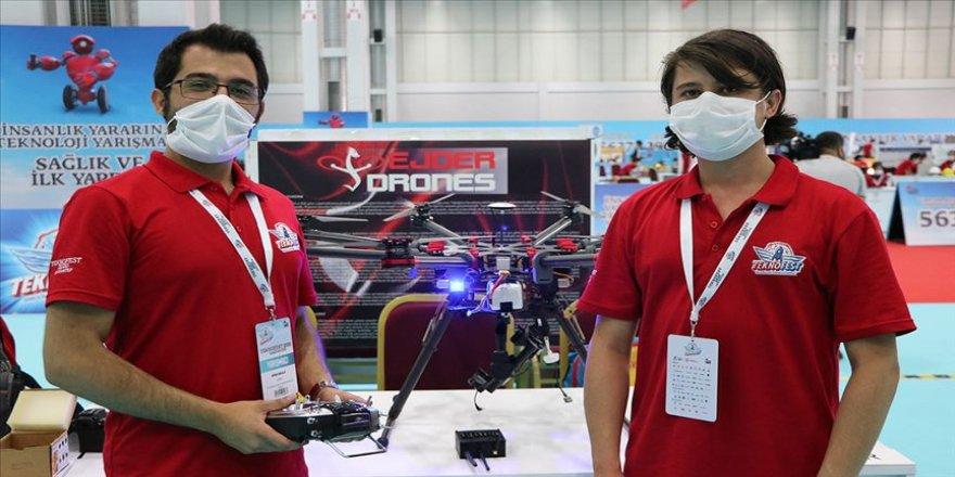 Asker çocuğu iki kardeş mayını havadan belirleyip imha edecek drone yaptı