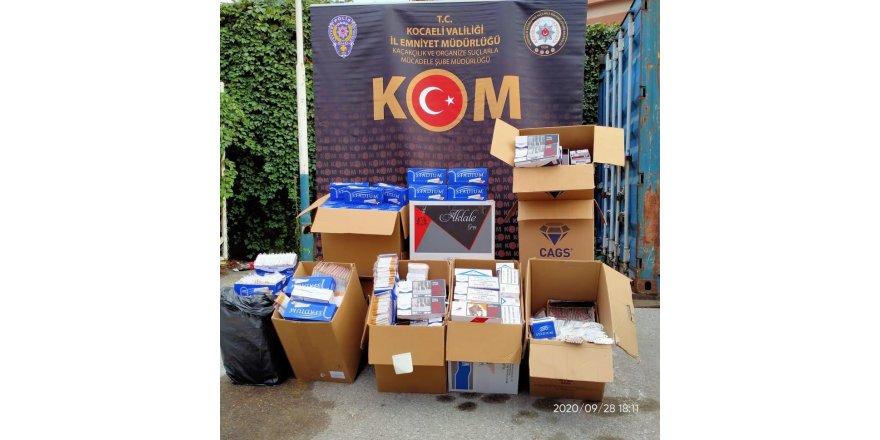 Kocaeli'de kaçak makaron operasyonu