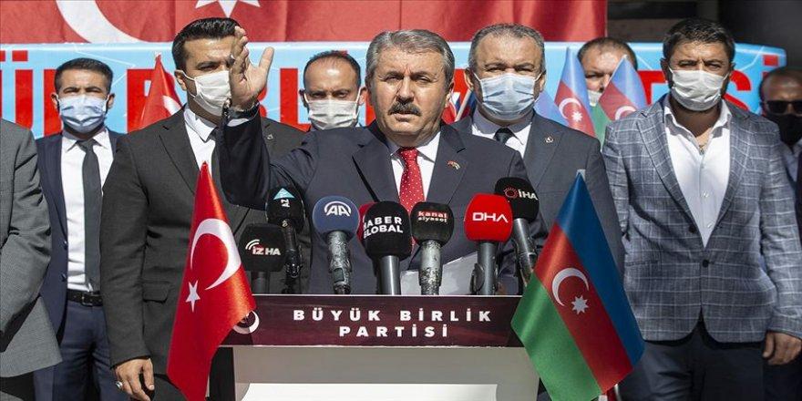 BBP Genel Başkanı Destici: Türkiye, her zaman ve her şartta Azerbaycan'ın yanındadır