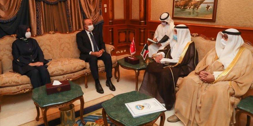 Dışişleri Bakanı Çavuşoğlu taziye ziyareti için Kuveyt'te