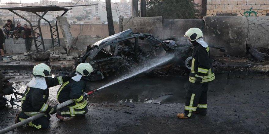 Afrin'de meydana gelen patlamada 2 sivil yaralandı