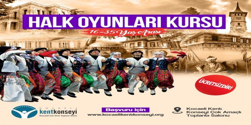 Kocaeli'de ücretsiz halk oyunları kursu verilecek