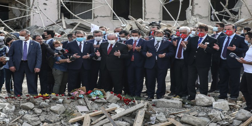 TBMM Başkanı Şentop Gence kentini ziyaret etti: Karabağ Azerbaycan toprağıdır tarih boyunca böyledir