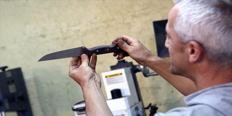 Eski hükümlü devletten aldığı hibeyle Sürmene bıçakları üretiyor