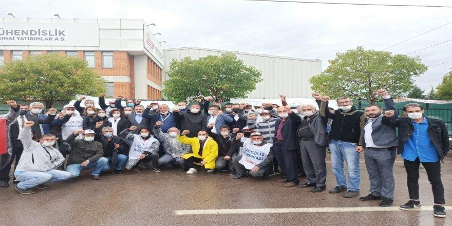 CHP Gebze'den işten çıkarılan işçilerin eylemine destek