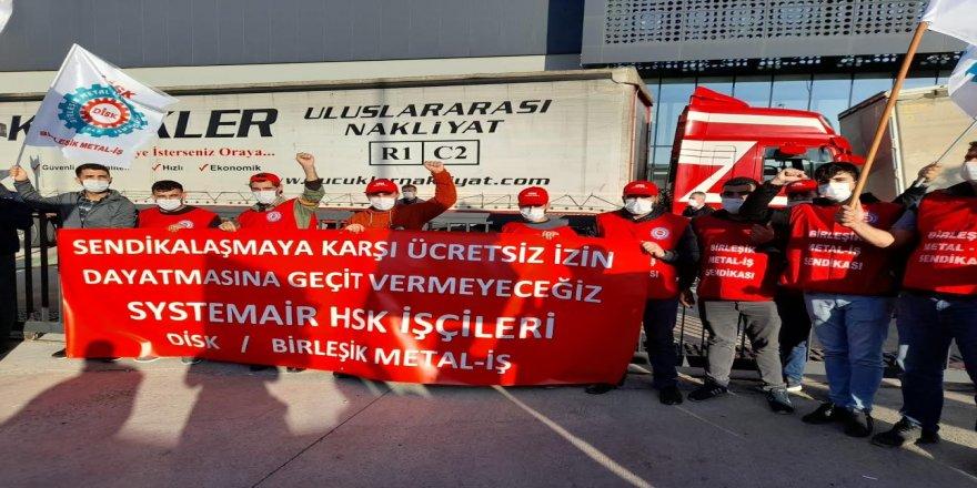 CHP Gebze,Ücretsiz İzne Çıkarılarak Eyleme Geçen İşçileri Ziyaret Etti