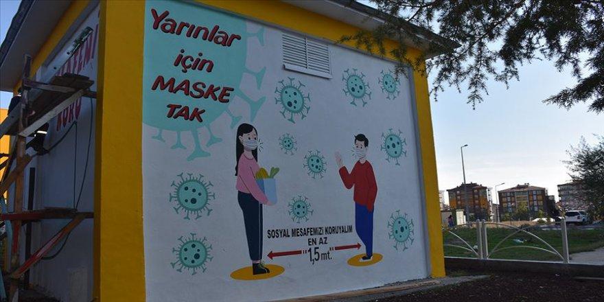 """Tekirdağ'da trafo duvarlarına çizilen resimlerle """"sosyal mesaj"""" verilecek"""