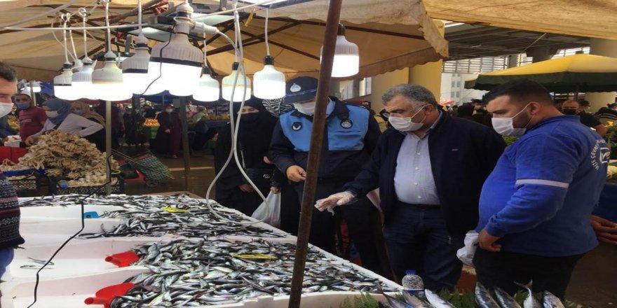 Gebze Zabıtası balıkçıları denetledi