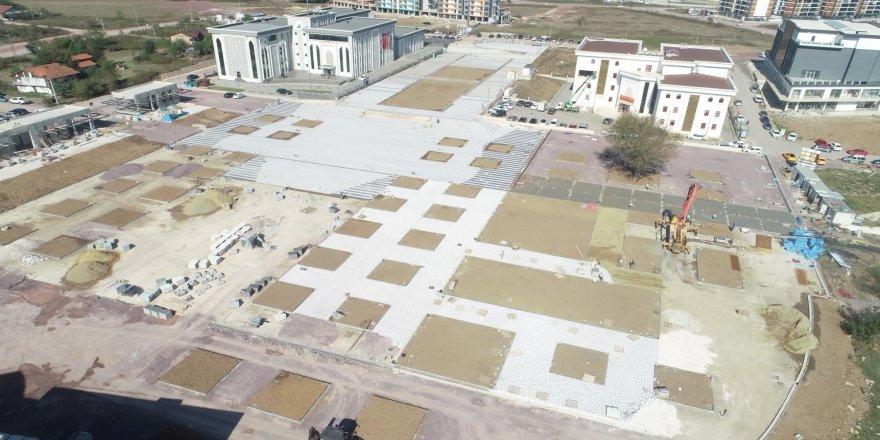 Kartepe kent meydanı havadan görüntülendi