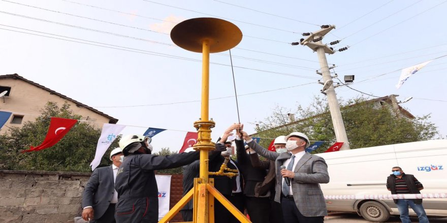 Hamidiye Köyü'nde doğalgaz sevinci