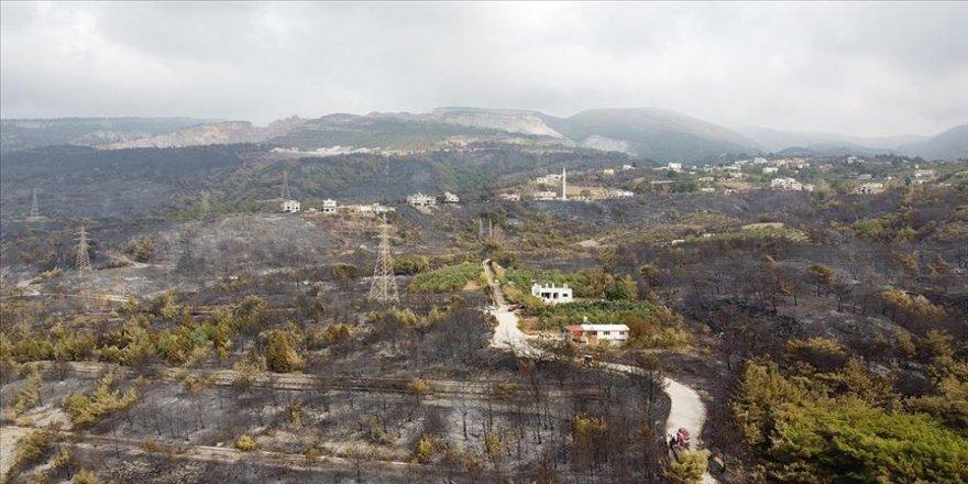 Hatay'daki orman yangınında zarar gören alanlar havadan görüntülendi