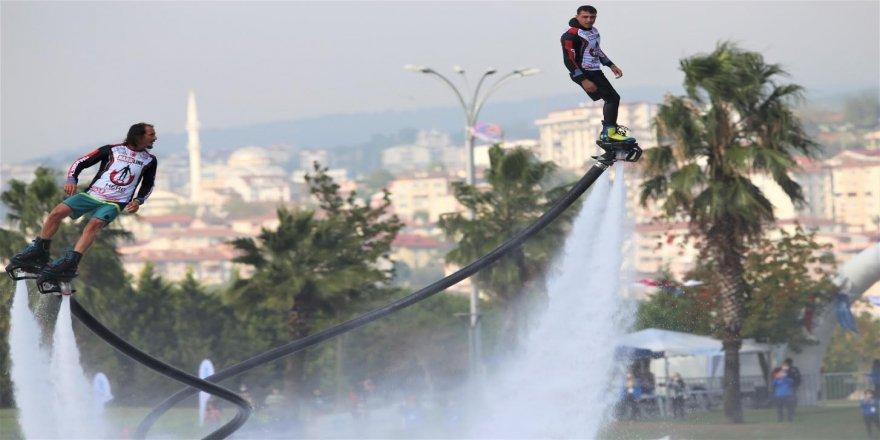 Mavi Vatan'ın kalbi Kocaeli 'de su sporları gösterileri nefes kesti