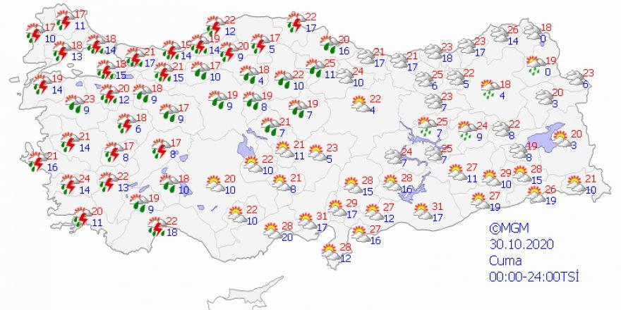 yurtta genel hava durumu
