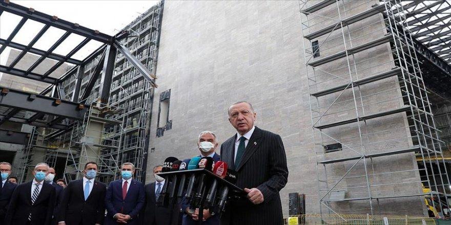 Cumhurbaşkanı Erdoğan: Taksim Camisi inşaatının ramazan ayı içerisinde yetişmesine dair bilgi aldım