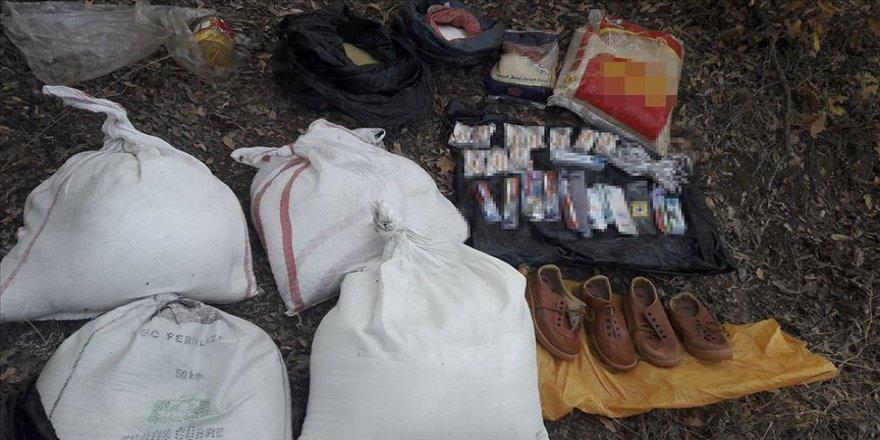 Bitlis'te PKK'lı teröristlerce araziye gizlenmiş malzemeler imha edildi