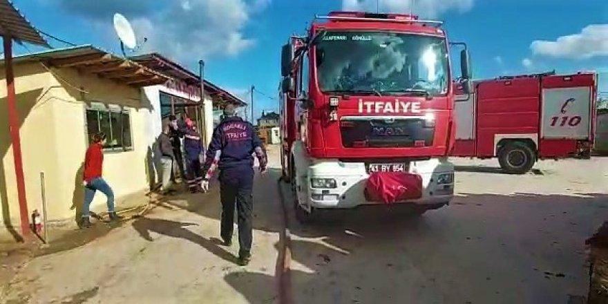 Kocaeli'de işçilerin kaldığı konteynerde çıkan yangın korkuttu