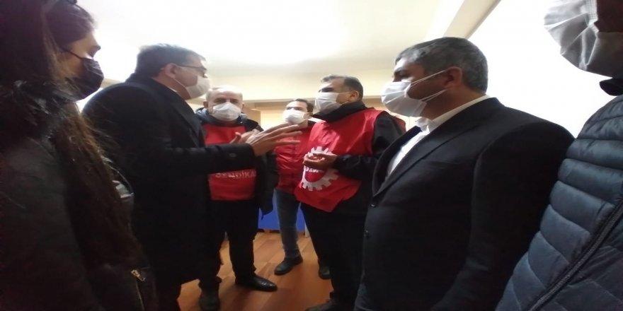 CHP Kocaeli Gebzede gözaltına alınan işçilerle görüştü