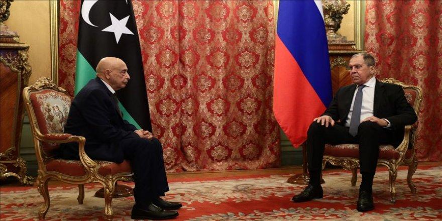 Lavrov, Libya'daki Tobruk Temsilciler Meclisi Başkanı Salih ile görüştü