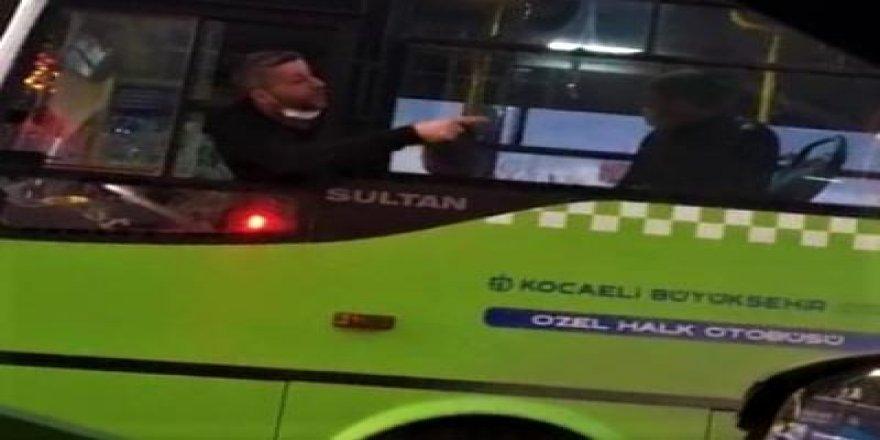 Gebzede tartıştığı halk otobüsü sürücüsüne copla saldırdı