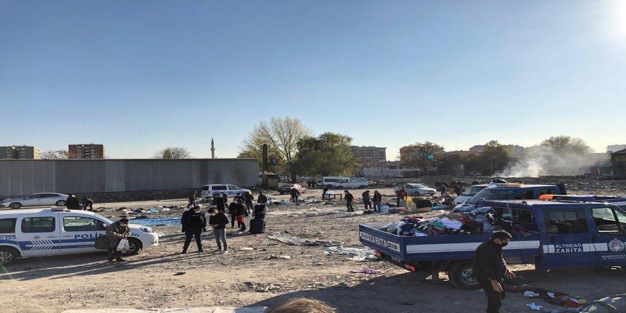 Ankara'da 'bit pazarı'na polis müdahalesi