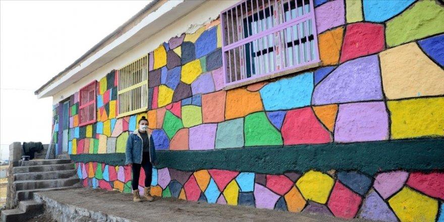 Doğaseverler etkinliklerde topladıkları parayla köy okullarını renklendiriyor