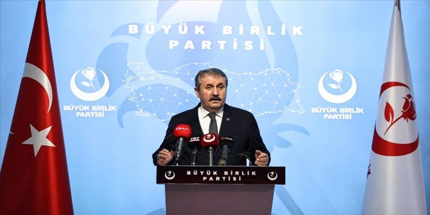BBP Genel Başkanı Destici: TSK üzerinden siyaset yapılmaz