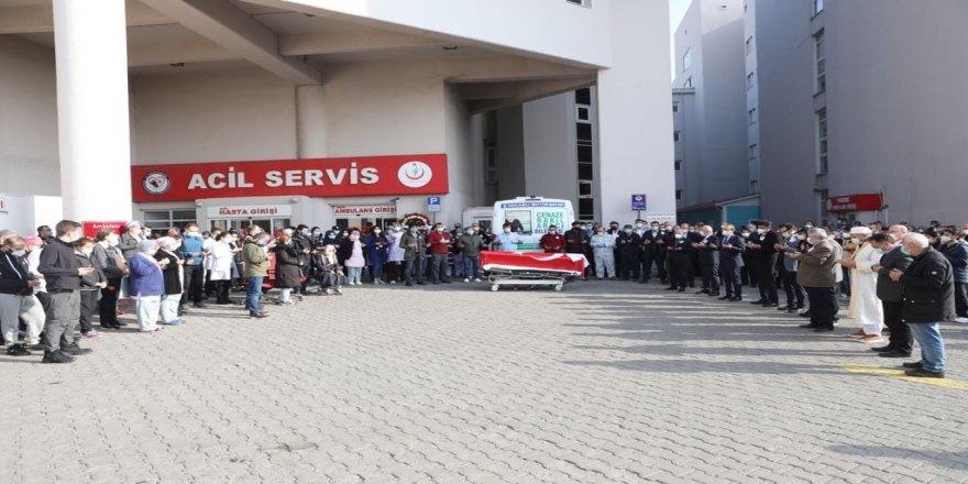 Darıca Farabi Hastanesi doktoru son yolculuğuna uğurlandı