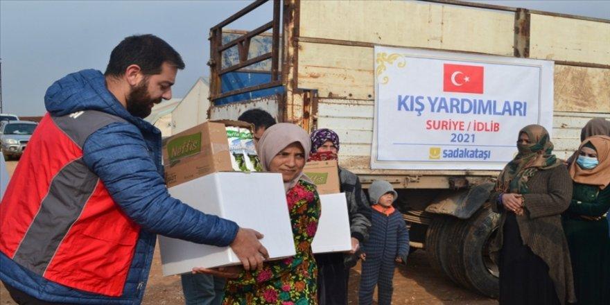 Sadakataşı Derneğinden İdlib'deki çocuklara yardım