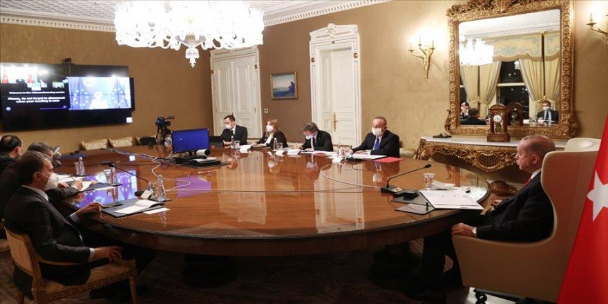 Cumhurbaşkanı Erdoğan, AB Komisyonu Başkanı Ursula von der Leyen ile video konferansla görüştü