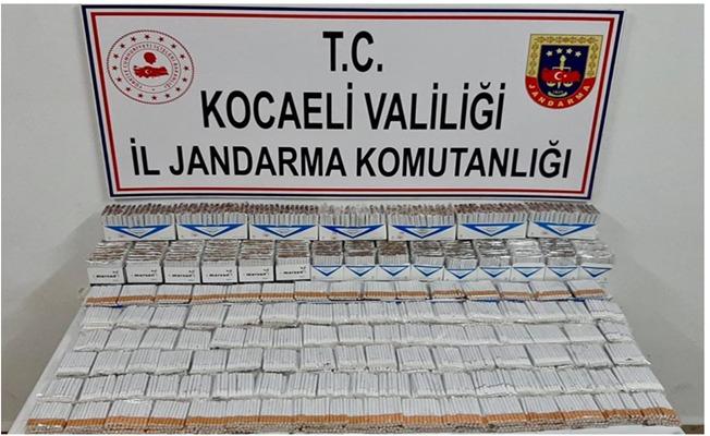 Kocaeli İl Jandarma Komutanlığı13 bin 660 adet kaçak sigara ele geçirdi.