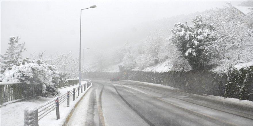 İstanbul'un bazı bölgelerinde kar ve sulu kar yağışı görülüyor
