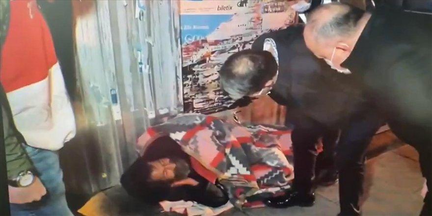 Maltepe'de sokakta kalan vatandaş günlerdir süren ikna çabaları sonucu otele yerleştirildi