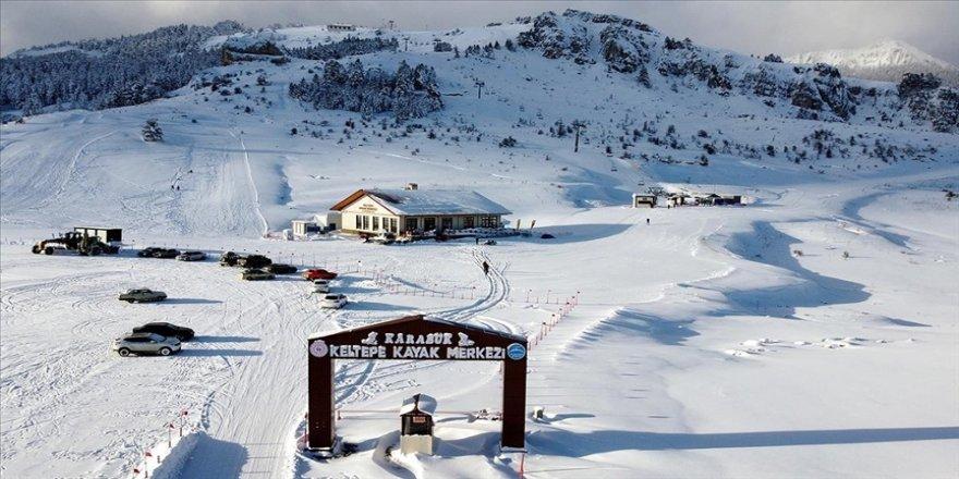 Sezonu açan Keltepe Kayak Merkezi ziyaretçilerini bekliyor