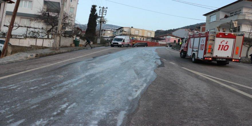 Kocaeli'de Kazaya giden itfaiye Aracı Kaza Yaptı