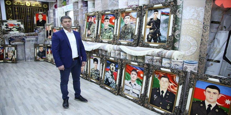 Azerbaycanlı esnaf, şehit askerlerin fotoğraflarını halıya dokutturdu
