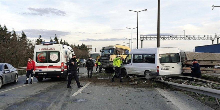 Gebze Anadolu Otoyolunda trafik kazası