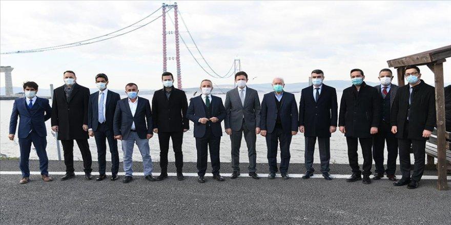 AK Parti Grup Başkanvekili Turan '1915 Çanakkale Köprüsü'nde incelemelerde bulundu