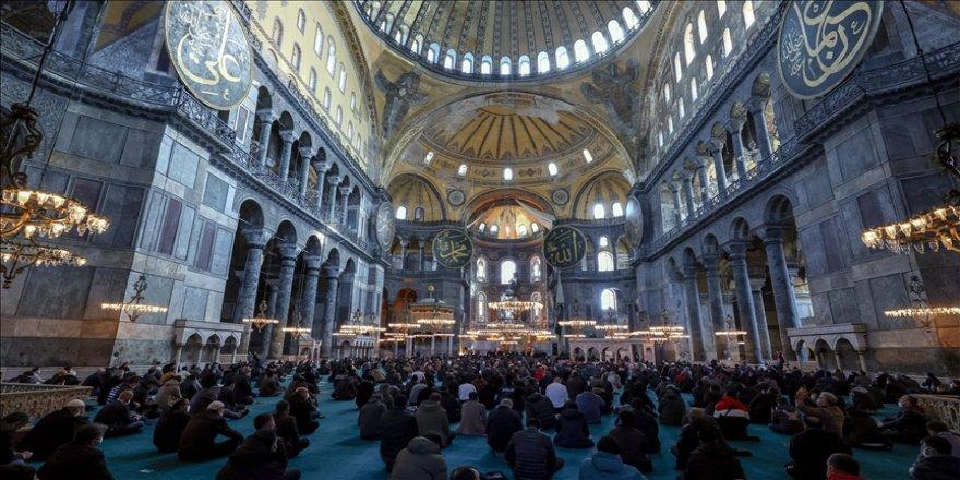 Osmanlı Hanedan Reisi Osmanoğlu için Ayasofya-i Kebir Camii'nde gıyabi cenaze namazı kılındı
